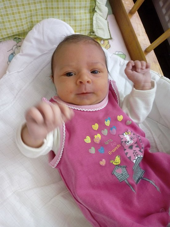 Tereza Trubačová z Horažďovické Lhoty se narodila 4. března ve strakonické porodnici (3490 g, 49 cm) rodičům Janě a Lukášovi. Doma čekala sestřička Anička (3).