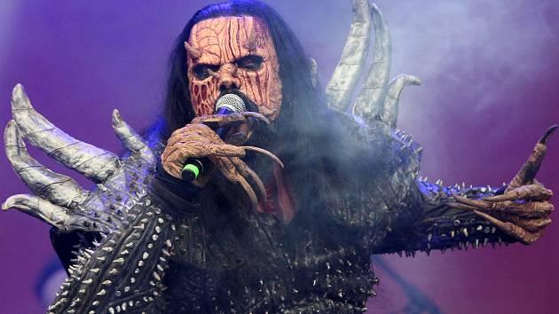 Jednou z hlavních hvězd sobotního programu byla finská kapela Lordi.