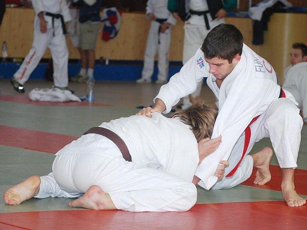 K tahounům extraligového Judoclubu Plzeň by měl v nastávající sezoně opět patřit český reprezentant Tomáš Funfálek (vpravo)