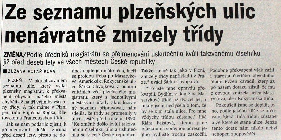 Plzeňský deník, 13. 7. 2020