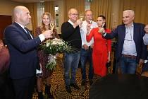 Volební štáb ANO v Plzni při krajských volbách 3. října 2020.