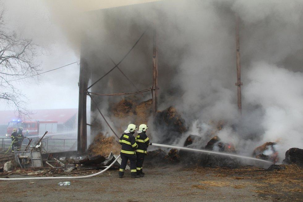 Požár v Chodském Újezdu.