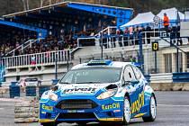 Na Setkání mistrů se Václav Pech junior představil s vozem Ford Fiesta R5.