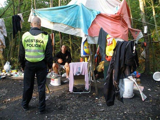 Asi desítka cizinců se utábořila se stany u Křimic, kde hospodaří na veřejném pozemku a šíří kolem sebe neuvěřitelný nepořádek
