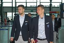 Fotbalisté Viktorie Plzeň na letišti v Praze