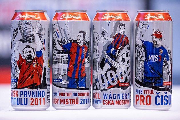 Na plechovkách jsou vyobrazeny čtyři nej… momentu zhistorie Viktorie Plzeň, které vybrali samotní fanoušci.