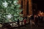 Rozsvícení vánočního stromu na náměstí Republiky v Plzni.