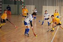 Čtrnáct týmů mladých adeptů pozemního hokeje se střetlo ve třech turnajích pořádaných ve zrekonstruované tělocvičně 11. ZŠ v Baarově ulici
