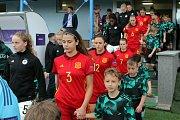 Utkání Německo x Španělsko na ME žen do 17 let se hrálo v Přešticích na Plzeňsku.