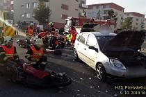 Nehoda v ulici Brněnská v Plzni