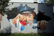 Plačícího Masaryka vytvořil v rámci letošního Street Art Festivalu v Olomouci umělec ChemiS. Dnes dílo zamíří na kruhový objezd pod Bílou Horu.