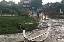 Následky silného deště ve Šťáhlavech