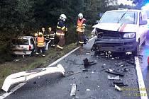 Vážná nehoda ve Vlkově u Spáleného Poříčí.