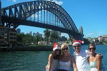 Vítězslav Lavička vyrazil s manželkou a dcerami do města, aby nasál vánoční atmosféru Sydney