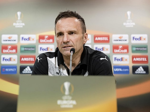 Trenér Plzně Karel Krejčí před zápasem proti Villarrealu