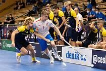 Česko U19 (v bílém) - Švédsko U19.