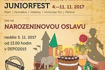 Pozvánka na narozeninovou oslavu Juniorfestu