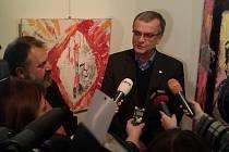 Miroslav Kalousek přijel koupit obraz Kunda z Lán