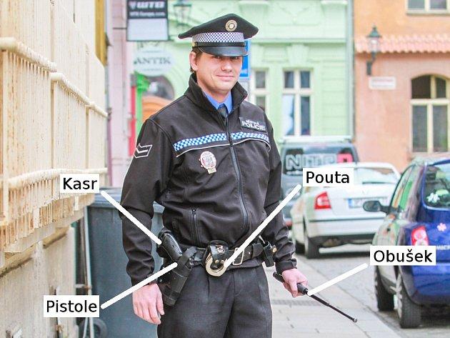 Výbava každého strážníka městské policie