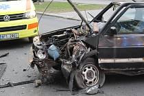 Dopravní nehoda v ulici Edvarda Beneše v Plzni