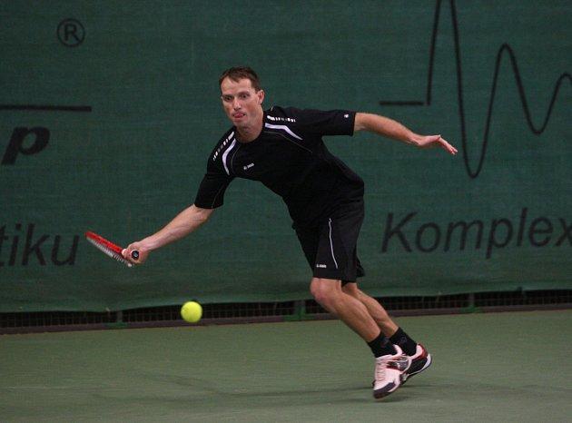 Vyhrál. Tenista Agrofertu Prostějov Jaroslav Pospíšil (na snímku) se stal halovým mistrem České republiky pro rok 2013.