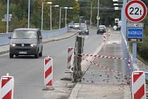 Rekonstrukce Tyršova mostu v Doudlevcích