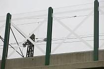 Skleněné stěny podél železničního koridoru Plzeň - Praha jsou pro ptáky nebezpečné