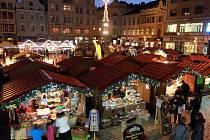 Vánoční trhy na náměstí Republiky v Plzni