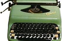 Psací stroj Casual.  Jeden z exponátů výstavy