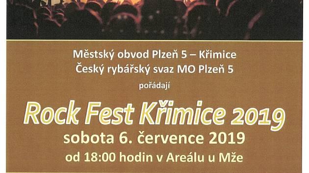 Rock Fest Křimice 2019 Plakát