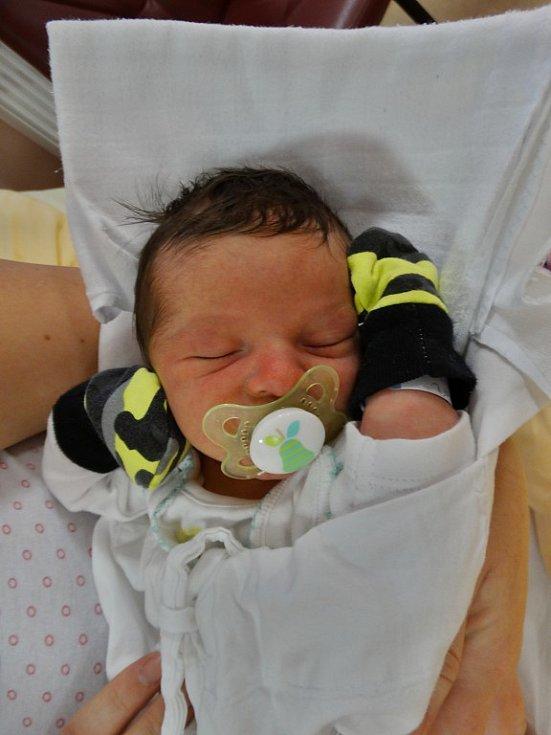 Šimon Dvořák se narodil 26. prosince v8:54 mamince Anně a tatínkovi Pavlovi zKřelovic. Po příchodu na svět vplzeňské FN vážil bráška sedmileté Karolínky 3260 gramů a měřil 48 centimetrů.