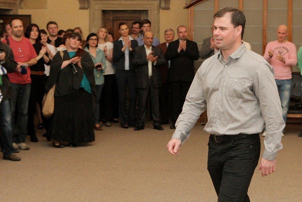 Zlatým Indiánům gratuloval na radnici primátor města Martin Baxa