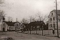Kaznějovská náves v roce 1935.