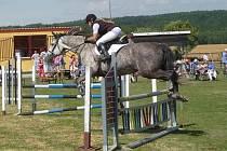 Jezdkyně JK Vysoká Libyně Iveta Cepková obsadila s klisnou Holy for Love (na snímku) třetí příčku v sobotním Memoriálu J. Šmause, s koněm Hope Star byla třetí v soutěži s překážkami do 90 centimetrů