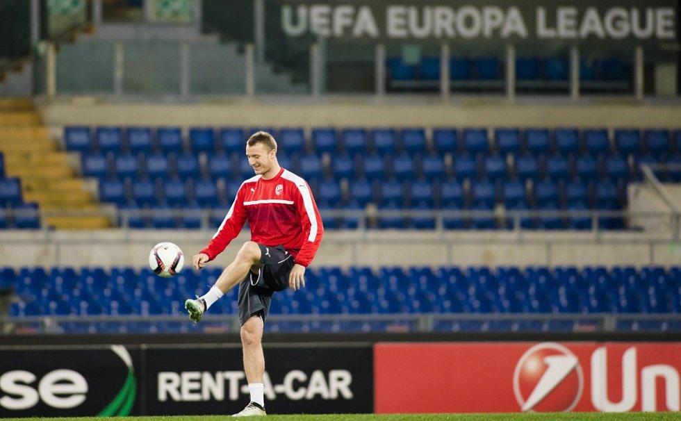 Trénink Viktorie Plzeň před zápasem proti AS Řím