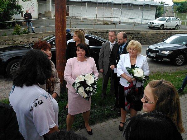 Ivana Zemanová dorazila do Plzně