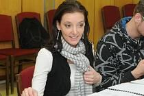V Divadle J. K. Tyla v Plzni začaly v tomto týdnu první zkoušky připravovaného muzikálu Monty Python´s Spamalot. Na snímku hostující zpěvačka a herečka Dasha, která ztvární Jezerní dámu