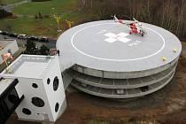 Nový heliport v areálu Fakultní nemocnice Plzeň-Lochotín