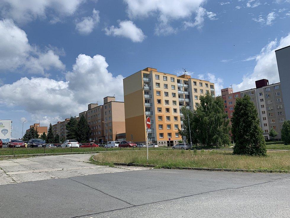 Sídliště v Horní Bříze.