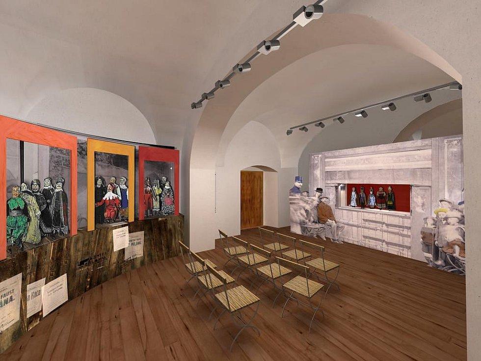 Vizualizace Muzea loutek v Plzni.