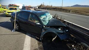 Nehoda na dálnici D5 u Rokycan
