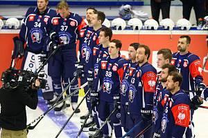 Famózní jízdu hokejistů Škody Plzeň (na snímku) Ligou mistr zastavila až před branami finále švédská Frölunda.