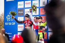 Ve Stupně se představí také úřadující český šampion v cyklokrosu Emil Hekele (uprostřed) a bronzový Michael Boroš (vpravo).