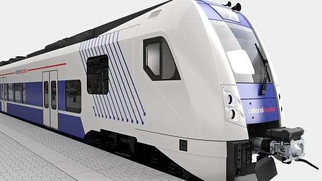 Vizualizace vlaku typu RegioPanter od společnosti Škoda Transportation
