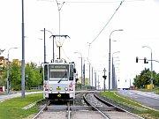 Zrekonstruovaná trať tramvají č. 4.