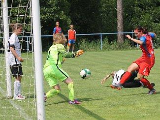 Mezinárodní fotbalové utkání žen FC Viktoria Plzeň - Post SC Drážďany ve Zbůchu