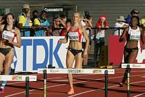 Atletka plzeňské Škodovky Jana Reissová (na snímku) si na mistrovství světa juniorů v americkém Eugene doběhla na trati 400 m překážek pro desáté místo