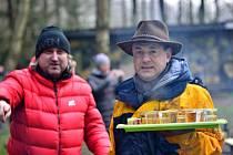 Jan Hřebejk a Tomáš Froyda při natáčení.
