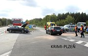 Nehoda Jiřího Kajínka.