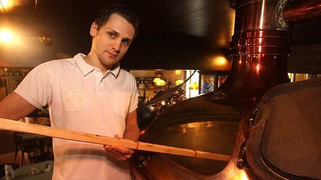 Petr Krýsl v pivovaru Purkmistr